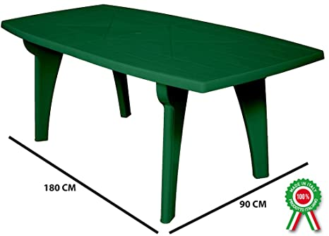 Tavolo Plastica Da Esterno.Sf Savino Filippo Tavolo Tavolino Rettangolare 180x90 Lipari In Dura