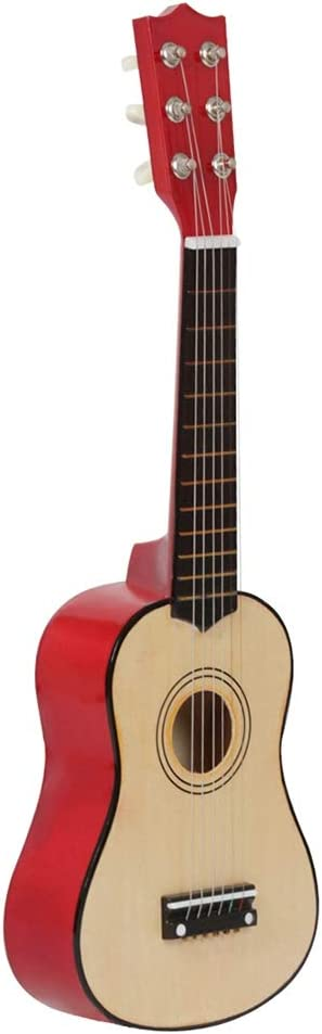 ZGHNAK Guitarra acústica de 6 cuerdas Guitarra de juguete 21 ...