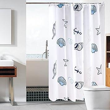 Badezimmer Duschvorhang Duschvorhang Stange Combo Set Wasserdichte