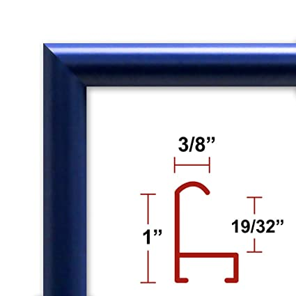 Amazon.com - 11 x 17 Poster Frame - Profile: #15 Blue Custom Size ...