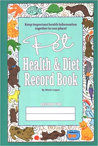 pet health and diet record book amazon co uk marie c logue