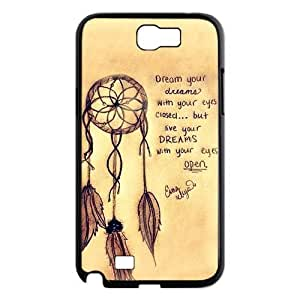 Vintage Retro Dream Catcher Samsung Galaxy Note 2 N7100 Case Cover Cloud Feather Catcher Quotes hjbrhga1544