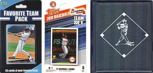 MLB Atlanta Braves Licensed 2011 Topps Team Set and Favorite Player Trading Cards Plus Storage ()