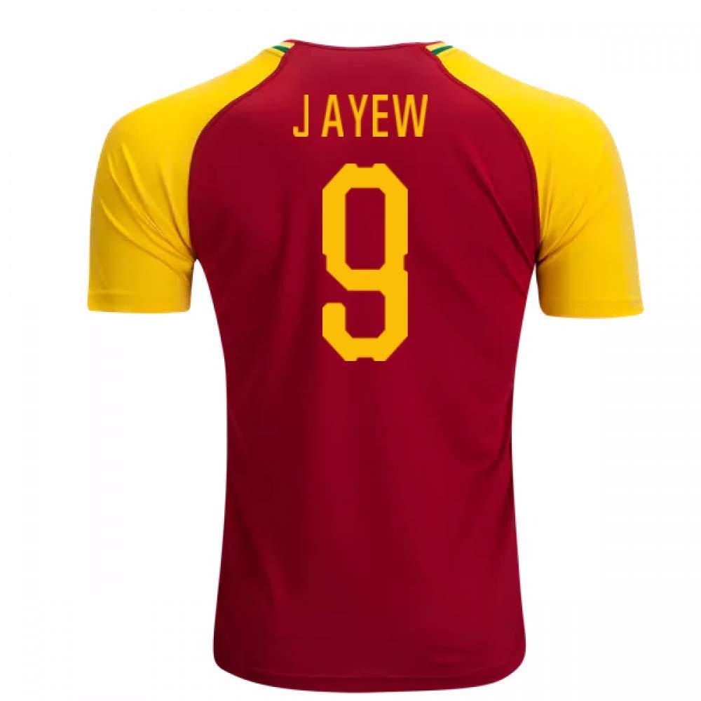 2018-19 Ghana Home Football Soccer T-Shirt Trikot (Jordan Ayew 9)