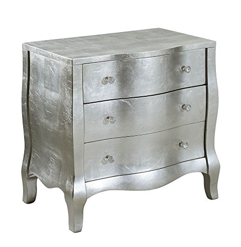 Treasure Trove Accents 17422 Three Drawer Chest, Silver by Treasure Trove Accents