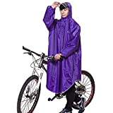 Liveinu Adult Bicycle Bike Rain Coat Extended Hooded Rain Poncho with Snaps