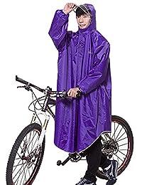 Liveinu Adult Bicycle Bike Rain Coat Extended Hooded Rain Poncho with Snaps