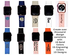 Personalize your Apple Watch Band with Monogram. What is special about our bands? We give a unique touch to traditional leather band to create a unique personalized look that will grab attention while still maintaining comfort and ease of use...