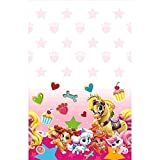 """Amscan Adorable Disney Palace Birthday Party Plastic Table Cover (1 Piece), Pink, 54"""" x 96"""""""