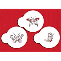 Designer Stencils C195Mariposa Galletas Plantillas, pequeño, Beige/Semi-Transparente