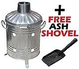 Incinerator Toilet Mini Garden Incinerator Small 15L Rubbish Waste Paper Document Burning Fire Bin + FREE Mini Shovel by S&MC Gardenware