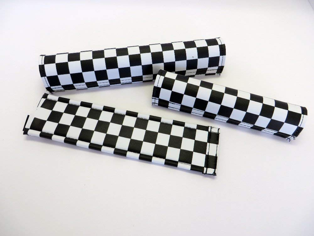 Checker Yellow /& Chrome Flite BMX Pad Set Old School BMX