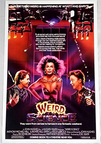 Kelly LeBrock Signed Weird Science 24x36 Poster OC Dugout Hologram