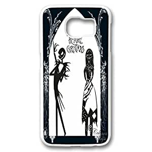 Customized Cute Cartoon Movie The Nightmare Before Christmas jack and sally Wallpaper PC White Case Cover for Samsung galaxy S6 by supermalls