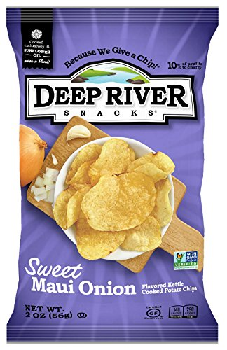 Deep River Snacks Sweet Maui Onion Kettle Cooked Potato Chips, 2-Ounce (Pack of - Kettle Sweet