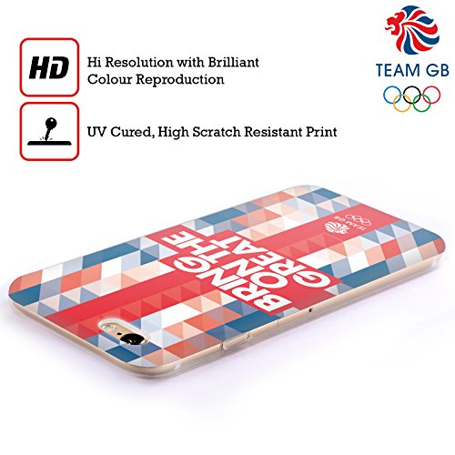 Official Team GB British Olympic Association Geometric Union Jack Bring On The Great Soft Gel Case for Apple iPhone 5c