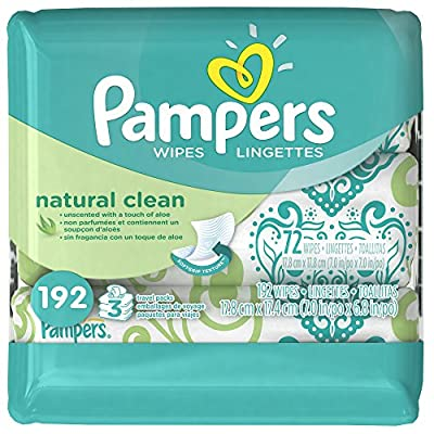 Pampers Natural Clean Wipes Travel Pack