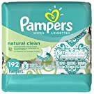 Pampers Baby Wipes Natural Clean (Unscented) 3X, 192 Count