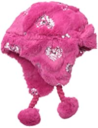Little Girls' 2-6X Faux-Fur Trapper Hat with Sequin Stars