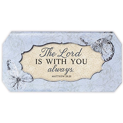 Musical Rosary Box (The Lord Is With You Always Periwinkle Musical Box Plays Tune How Great Thou Art)