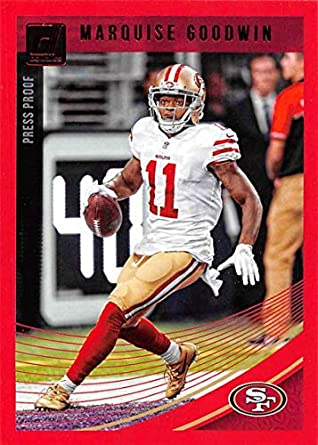 f94ed99806f 2018 Donruss Press Proof Red Football  251 Marquise Goodwin San Francisco  49ers