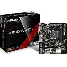 ASRock AB350M-HDV Socket AM4/AMD B350/DDR4/SATA3&USB3.0/M.2/A&GbE/MicroATX Motherboard