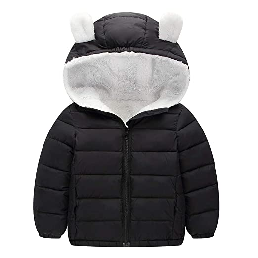 3183767f3bb7 Amazon.com  Kimani Winter Coats for Kids with Hooded (Padded ...