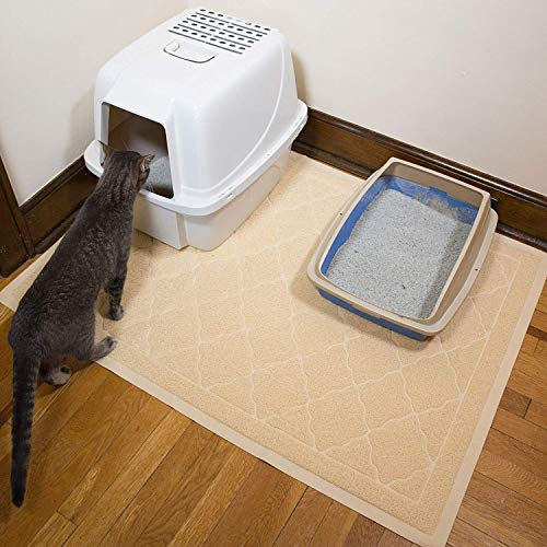 Jumbo Litter Mat 47 x 36 Cat Litter Mat - Traps Messes, Easy Clean, Durable, Litter Box Mat with Scatter Control - Soft on Kitty Paws