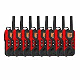 Uniden GMR3055 FRS GMRS Two-Way Radio Rechargeable Walkie Talkies 8-PACK