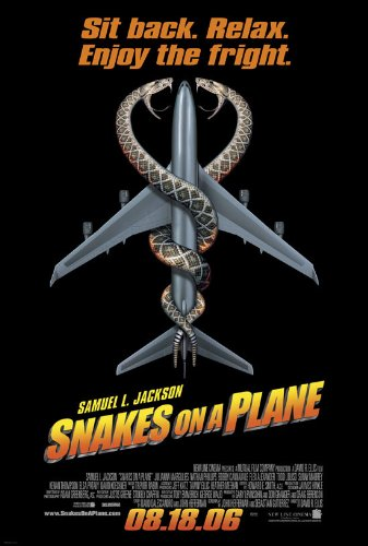 SNAKES ON A PLANE MOVIE POSTER 1 Sided ORIGINAL FINAL 27x40 SAMUEL L. JACKSON