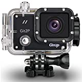 GitUp GIT2P Pro Black Real 2K 24FPS Wifi Sports Action Camera Ultra HD 16MP Waterproof DV Camcorder 170 Degree Wide Angle Panasonic MN34120 - 1.5 Inch LCD Screen - Rechargeable Batterie / Mounting Kits
