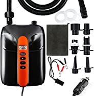 Max 20PSI Electric SUP Pump, 2nd Gen AOLVO 12V Electric Air Pump with LCD Digital Display, Inflate & Defla