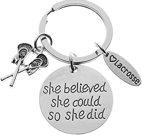 Infinity Collection Girls Lacrosse Keychain