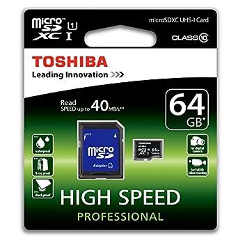 Amazon.com: Toshiba sd-c064uhs1 (6 A 64 GB Clase 10 ...