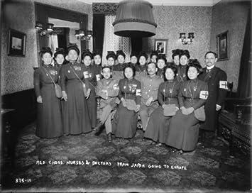 Amazon.co.jp: 1915年写真 赤十字看護師&医師 日本からヨーロッパ ...