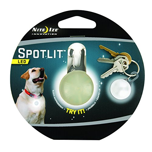 Nite Ize SpotLit Clip-On LED Light with Carabiner, Weather Resistant (Pet Safety Light)