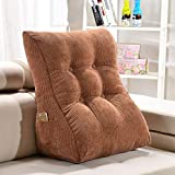 GAOYANG Triangle Wedge Bed Back Cushion, Headboard Wedge Pad, Headboard Soft Bag Pillow Bed Reading Pillow Cushion Sofa Waist Backrest Washable, 9 Colors (55cm)