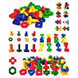 Topseller Jumbo Nuts and Bolts Set Matching Fine Motor Toy for Toddlers Preschoolers 52pc