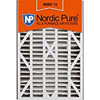 Nordic Pure 16x25x3ABM15-7 Merv 15 AC Furnace Filter, 7 Piece