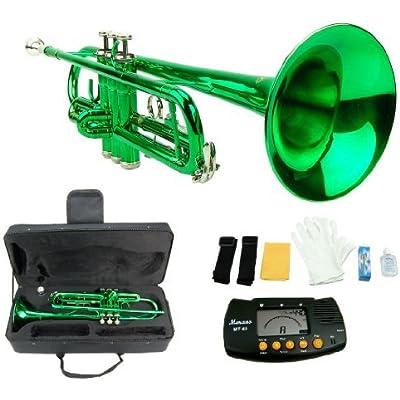 merano-b-flat-green-silver-trumpet