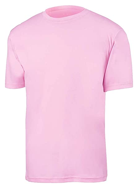 ec23d6488c9f Amazon.com  Champion Youth Moisture Management T-Shirt in Cashmere Pink -  X-Large  Athletic Shirts  Clothing