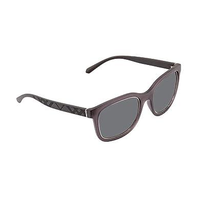 c424fe927a3e Burberry Men's BE4256 Sunglasses Matte Grey/Grey 54mm at Amazon Men's  Clothing store: