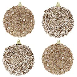 Rose Gold Sequin Ball Christmas Tree Decoration