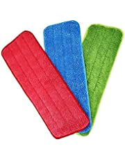 3pcs Mop Cloth Free Hand Wash Water Spray Microfiber Spray Mop Replacement Heads Cloth wet And Dry Mop Replacement Cloth Microfiber Cleaning Pads Reveal Mop
