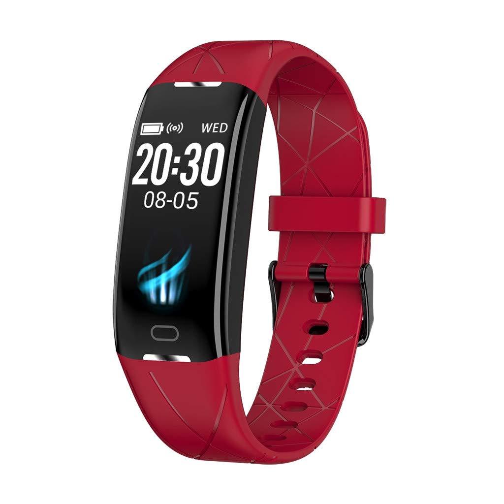 ... Watch Touch Screen Watch,Sleep Monitoring,Heart Rate Blood Pressure Monitoring,Remote Control Camera Smartwatch,Reloj inteligente(Blue)
