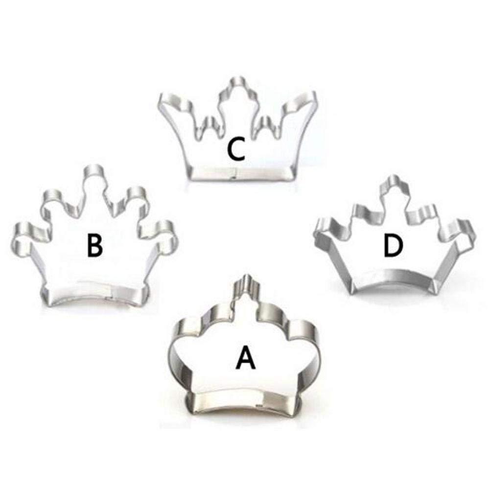 Lvcky - Molde para Galletas con Forma de Corona (4 Piezas): Amazon.es: Hogar