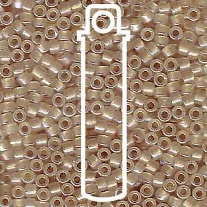 Beige Lined Opal (Db1731) Delica Myiuki 11/0 Seed Bead 7.2 Gram Tube Approx 1400 Beads