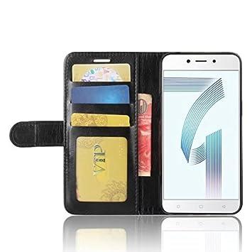 """Cover Funda Para Xiaomi RedMi 5A(5.0""""),Elegante Billetera Cover PU Cuero"""