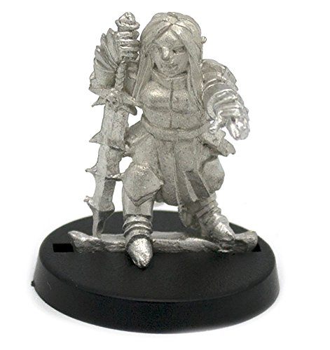 Stonehaven Dwarf Anti Paladin Miniature Figure (for 28mm Scale Table Top War Games) - Made in (Dwarf War Sword)