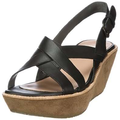 Camper Damas 21387-001 - Sandalias de vestir de cuero para mujer, color negro, talla 37